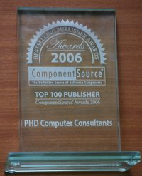ComponentSource Top 100 publisher in 2006
