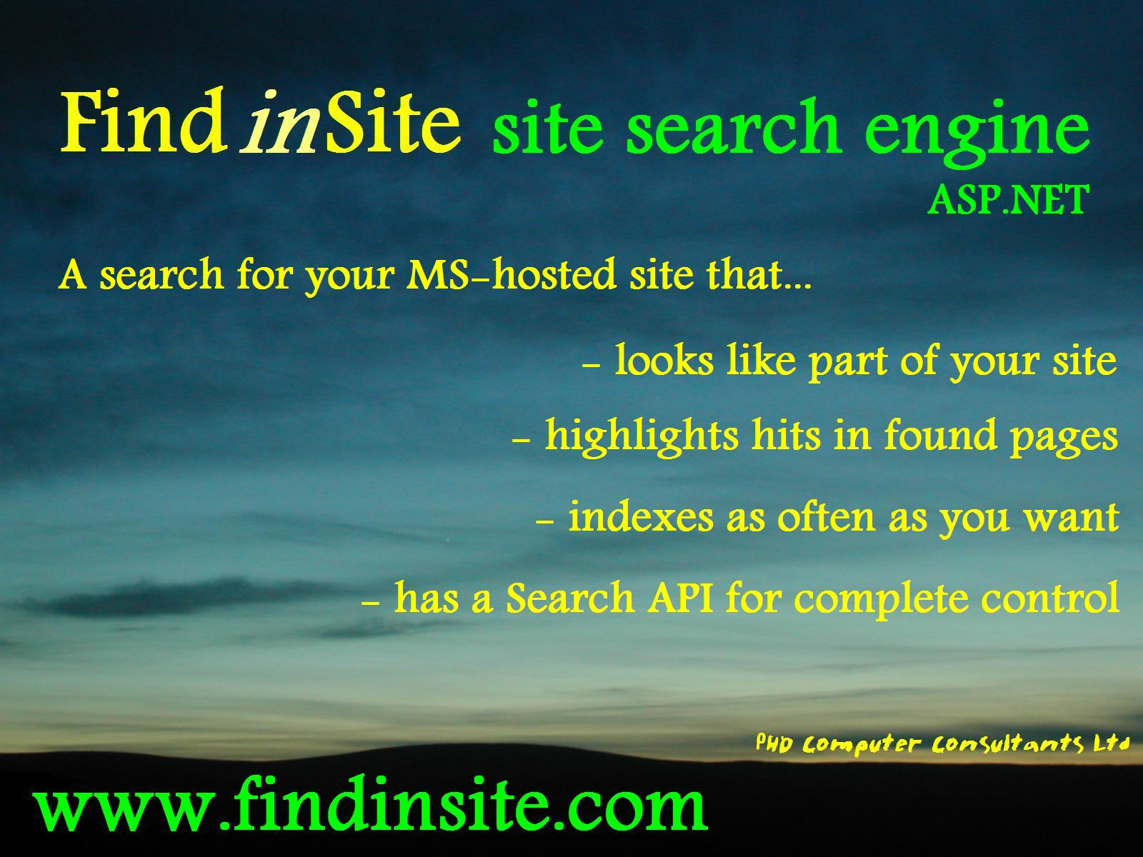 Find in Site advert