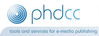 phdcc: e-media tools and e-publishing services for CDs, DVDs, USB-sticks and the Web